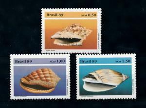[99691] Brazil 1989 Marine Life Sea shells  MNH