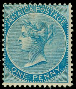 JAMAICA SG17, 1d blue, M MINT. Cat £325.