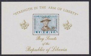 Liberia Airmail # C136 Boy Scouts , F-VF OG NH S/S - I Combine S/H
