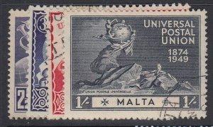 MALTA, Scott 225-228, used