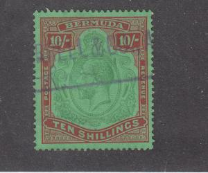 BERMUDA # 76 VF-LIGHT USED KGV 10sh CAT VALUE $300