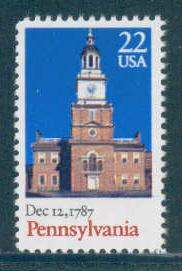2337 22c Pennsylvania Fine MNH