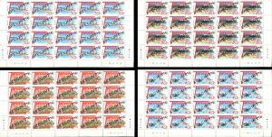 TUVALU Local Culture 4 Sheets Blocks Stamps Postage Collection SPECIMEN MINT NH