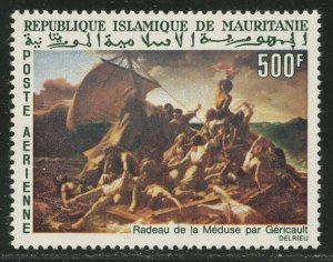 MAURITANIA Sc#C58 1966 'The Raft of the Medusa' Painting Complete Single Mint NH