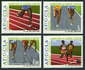 Angola 719-722,MNH.Michel 735-738. Dimostenes de Almeida Clington Races,1985.