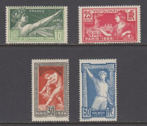France Sc 198-201 MNH. 1924 Paris Olympics, cplt set, fresh