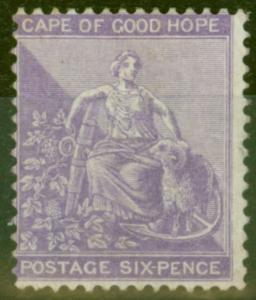Cape of Good Hope 1864 6d Dp Lilac SG25a Fine & Fresh Lightly Mtd Mint