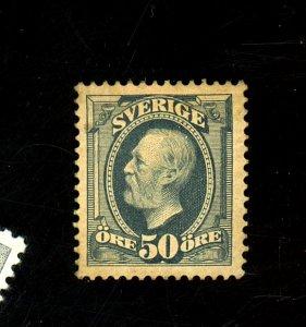 Sweden #64 MINT FVF OG HR Tiny Thin Cat$100