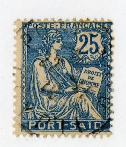 FRENCH OFFICE ABROAD PORT SAID 26 USED SCV $1.60 BIN $0.65 PEOPLE
