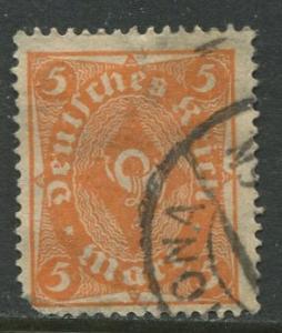 GERMANY. -Scott 180- Definitives -1921- Used - Wmk 126 - Single 5m Stamp