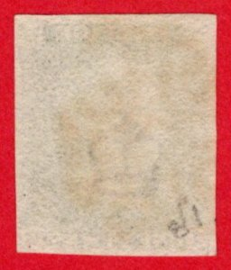 GBR SC #1 U (I,C) 1840 Queen Victoria 4-margins w/red cancel CV $320.00