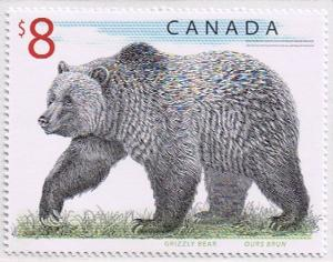 Canada Mint VF-NH #1694 Grizzly Bear 8$