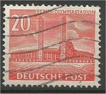 BERLIN, 1954, used 20pf Buildings Scott 9N102