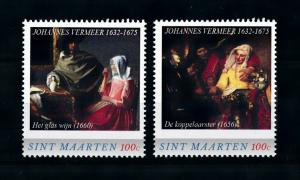 [100594] St. Maarten 2016 Paintings Johannes Vermeer wine glass Procuress  MNH