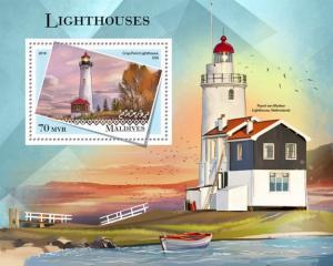 MALDIVES - 2018 - Lighthouses - Perf Souv Sheet - MNH