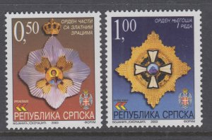 Bosnia and Herzegovina Serb Admin 206-207 MNH VF