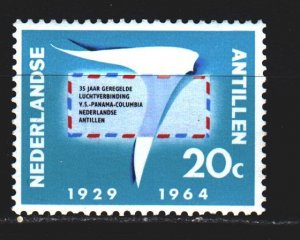Antilles. 1964. 139 from the series. 35 years airmail in Curacao. MNH.
