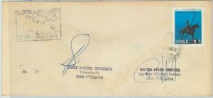 78989 - CHILE - Postal History - COVER from ANTARCTIC BASE dogs 1977   SIGNED