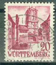 Germany - French Occupation - Wurttemberg - Scott 8N34