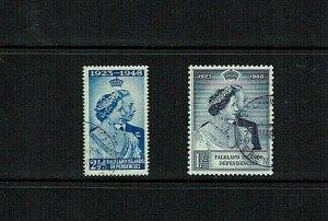 Falkland Islands Dependencies: 1948 Silver Wedding, Fine Used set