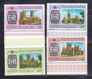 Tuvalu 81-84 Set MNH Cathedrals (A)