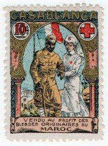 (I.B-CKK) Morocco (Great War) Cinderella :  Red Cross 10c (Delandre)
