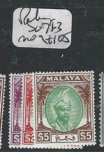 MALAYA PAHANG  (P1704B)  SULTAN    $1-$5  SG 71-3   MOG