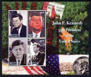 Micronesia 2008 John F Kennedy commemoration perf sheetle...