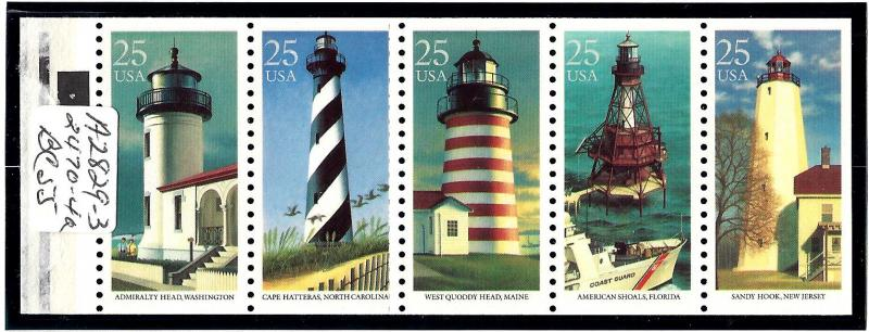 2474a Mint,OG,NH... Booklet Pane... SCV $52.50... Plate# 4