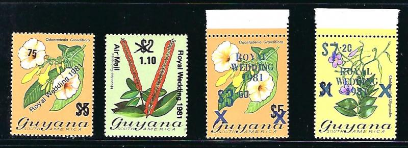 Guyana Scott #332-5 Unused, never hinged