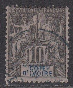 Ivory Coast 5 Used CV $15.00