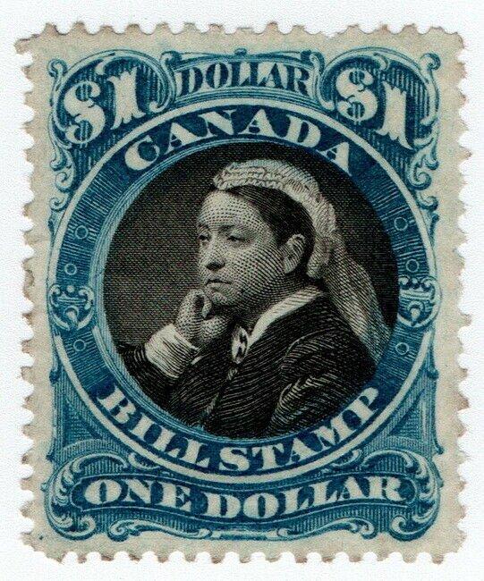 (I.B) Canada Revenue : Bill Stamp $1 (1868)