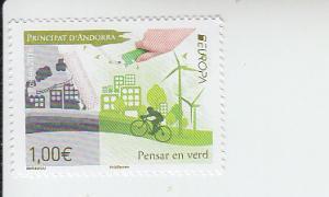 2016 Fr Andorra - Think Green - Europa (Scott 760) MNH
