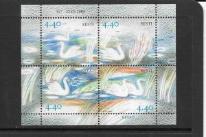 BIRDS - ESTONIA #508 SWANS  MNH