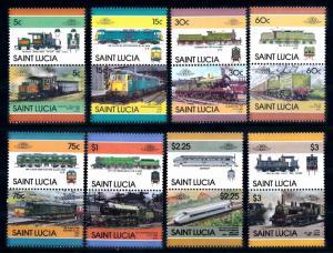 [66802] St. Lucia 1986 Railway Train Eisenbahn  MNH