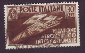 J20082  jlstamps 1935 italy used #346