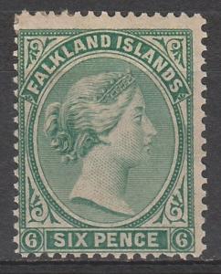 FALKLAND ISLANDS 1878 QV 6D