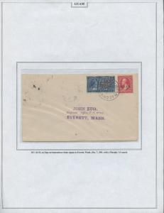 GUAM #2 & E1 ON COVER DEC 7,1901 CV $1,700 BS8446 HS108G