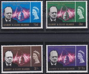Gilbert and Ellice 106-109 MNH (1966)