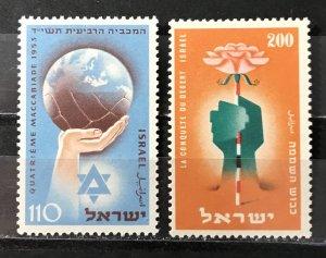Israel 1953 #78-9, MNH, CV $.50