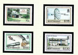 Montserrat 622-25 MNH 1986 Communications