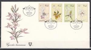 Venda, Scott cat. 48-51. Orchids issue on a First day cover.