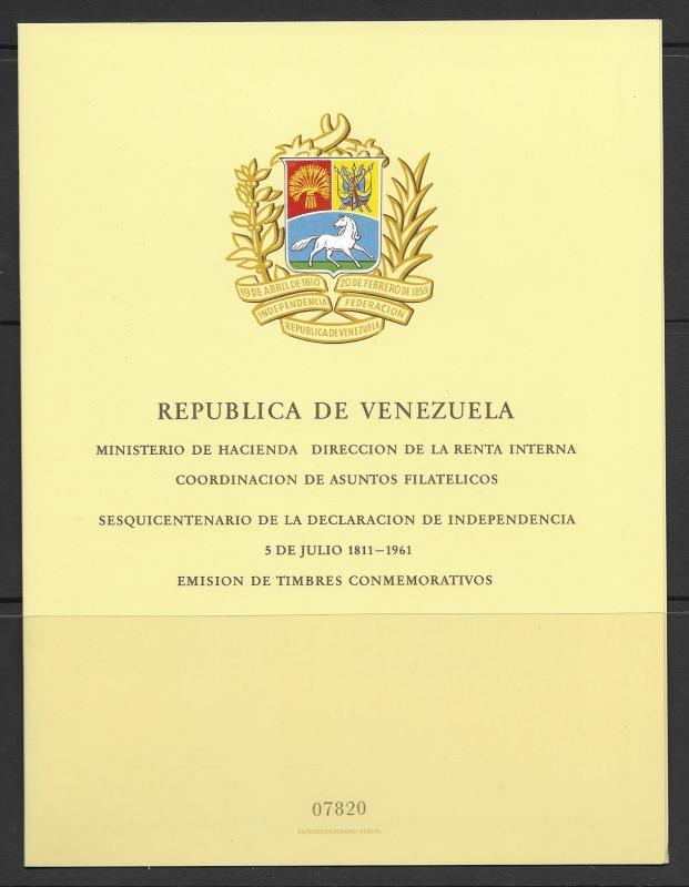 Venezuela 814a,C806a S/S MNH x 5 vf, see desc. 2019 CV $41.25+