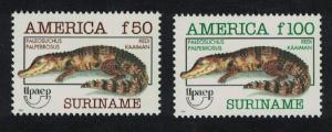 Suriname Cayman America Endangered Animals 2v SG#1567-1568