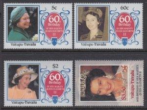Tuvalu - Vaitupu 58-61 QEII Birthday mnh