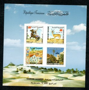 2002- Tunisia- Saharian Tourism- Horse- Gazelle- Palm- Desert- MS.NMH**