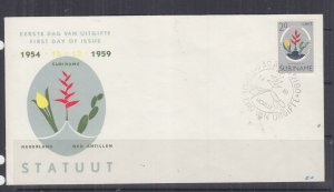 SURINAME, 1959 Statute of the Kingdom 20c. on Illustrated First day cover.