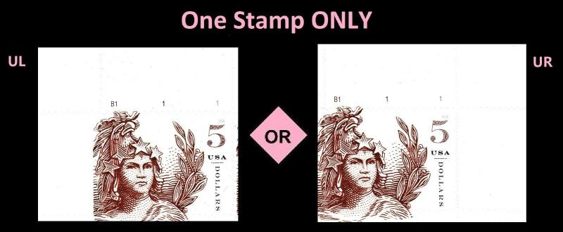 US 5297 Statue of Freedom Five Dollar Brick Red $5 plate single MNH 2018
