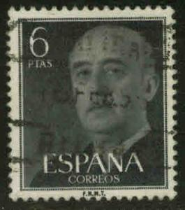 SPAIN Scott 833 Used Franco stamp