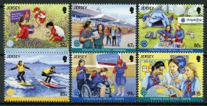 Jersey 2019 MNH Girlguiding Girl Guides 100 Years 6v Set Scouts Scouting Stamps